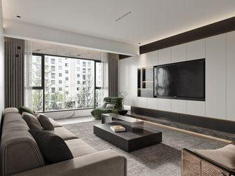 豪华型110平米三室两厅现代简约风格客厅效果图