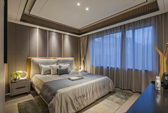 140平米复式轻奢风格卧室装修图片大全