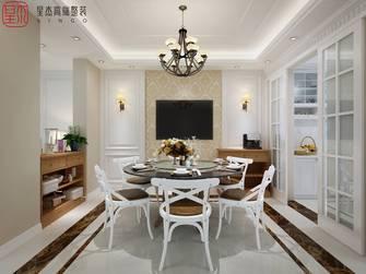 豪华型140平米别墅田园风格餐厅装修案例