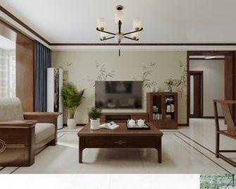 富裕型70平米中式风格客厅图片大全