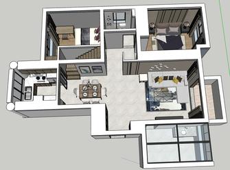 豪华型140平米复式北欧风格其他区域欣赏图