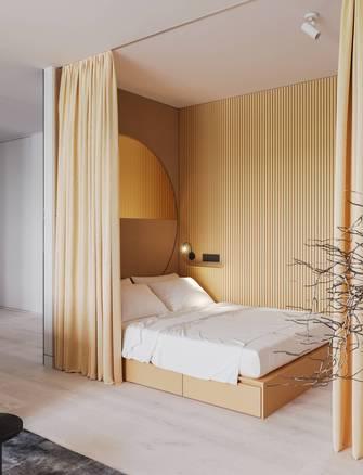50平米一室两厅现代简约风格卧室图片大全