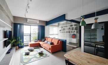 富裕型110平米三室两厅北欧风格客厅设计图