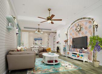 豪华型120平米三室两厅田园风格客厅图片