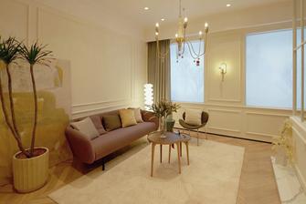 50平米公寓法式风格客厅图