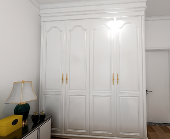 130平米三室一厅混搭风格卧室图