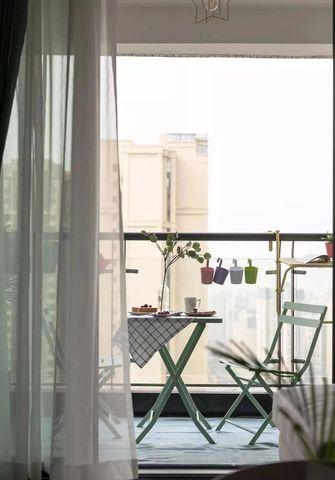 富裕型80平米北欧风格阳台图片
