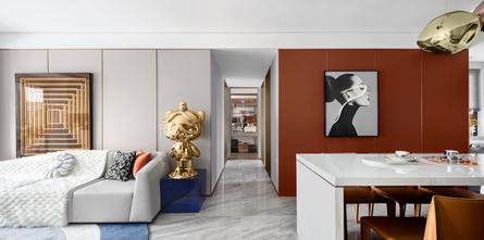 5-10万110平米现代简约风格客厅装修图片大全