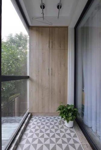 经济型110平米三室两厅混搭风格阳台图
