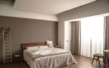 富裕型140平米三室一厅工业风风格卧室设计图