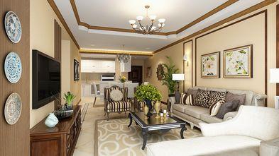 100平米三室两厅田园风格客厅图