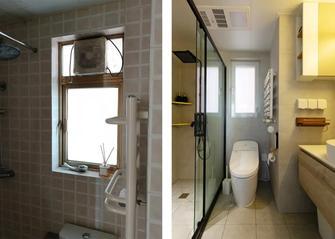 豪华型60平米混搭风格卫生间图片大全