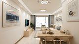 富裕型100平米三室两厅日式风格客厅装修效果图
