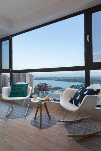 富裕型130平米北欧风格阳台欣赏图