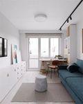 富裕型30平米以下超小户型北欧风格客厅装修效果图