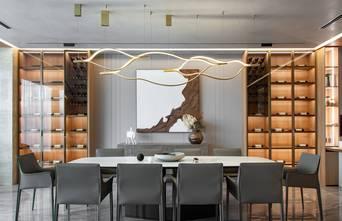140平米三室三厅轻奢风格餐厅效果图