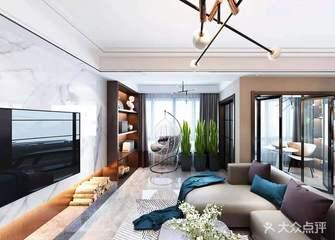 豪华型110平米四现代简约风格客厅装修案例