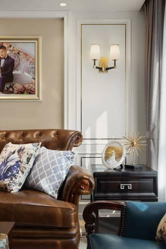 豪华型110平米复式轻奢风格客厅装修效果图