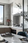 3万以下140平米三室两厅现代简约风格厨房欣赏图