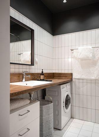 5-10万50平米一室两厅北欧风格卫生间图