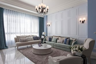 120平米三新古典风格客厅装修图片大全