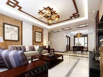 10-15万80平米三室三厅中式风格客厅装修案例