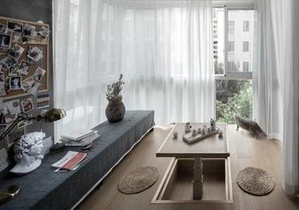 富裕型100平米三室一厅现代简约风格阳台效果图