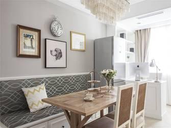 经济型90平米三室一厅美式风格餐厅图片