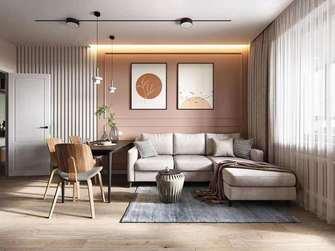 富裕型90平米三室两厅美式风格客厅设计图