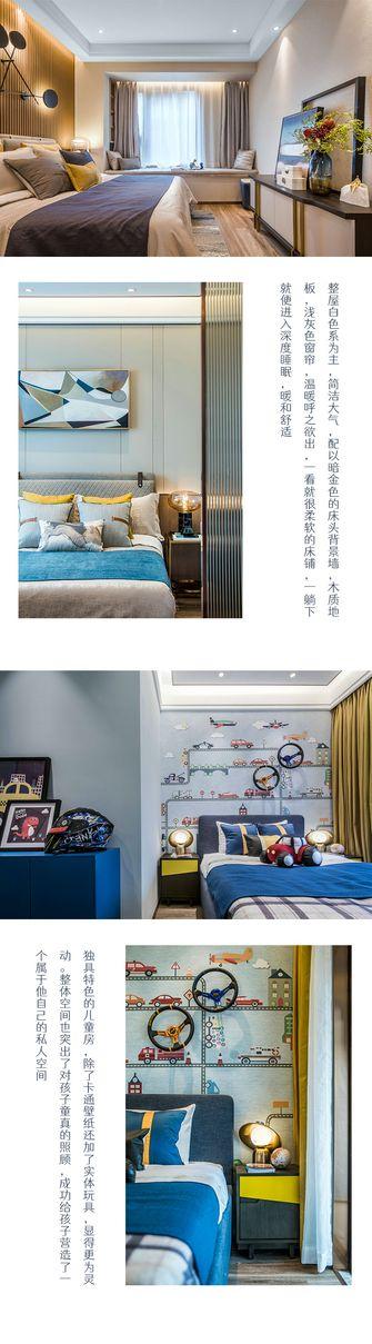 20万以上120平米三室一厅轻奢风格卧室装修图片大全