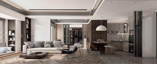 140平米三室两厅东南亚风格客厅装修图片大全