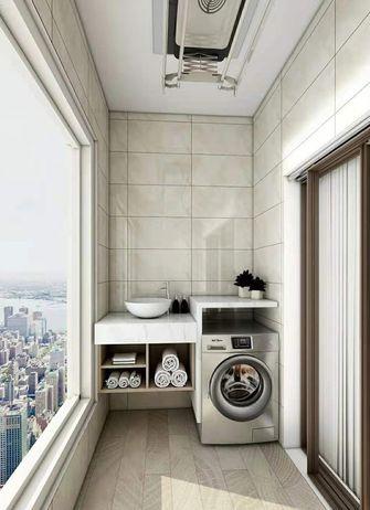 富裕型三室两厅现代简约风格阳台图