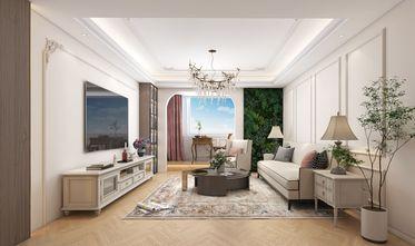 富裕型70平米公寓美式风格客厅装修图片大全
