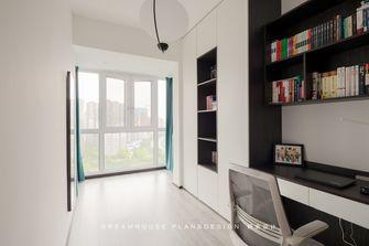 富裕型100平米三室两厅工业风风格书房欣赏图