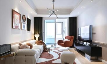 富裕型90平米三室一厅混搭风格客厅装修案例
