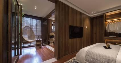 经济型110平米三室一厅东南亚风格客厅装修效果图