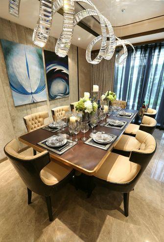 豪华型140平米四室一厅欧式风格餐厅装修案例