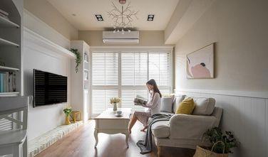 富裕型80平米三室两厅美式风格客厅图片