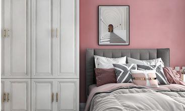 富裕型110平米三室一厅轻奢风格卧室设计图