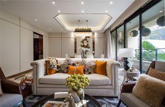 10-15万三室一厅轻奢风格客厅设计图