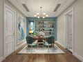 140平米复式法式风格书房欣赏图