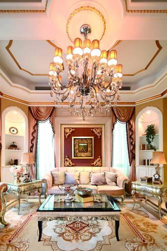 110平米三法式风格客厅装修效果图