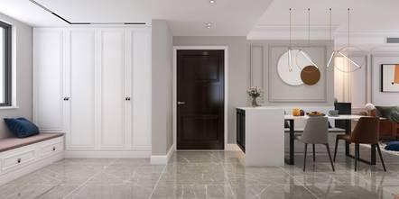 三室一厅法式风格厨房图