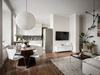 50平米一居室北欧风格餐厅装修案例