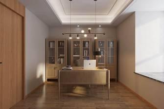 豪华型140平米三室两厅欧式风格书房装修图片大全