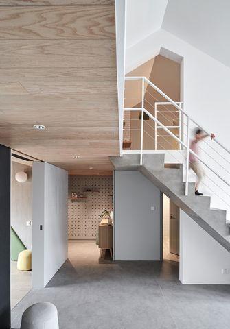20万以上110平米复式北欧风格楼梯间装修图片大全