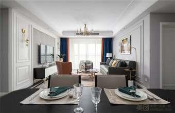 15-20万130平米三室三厅美式风格客厅图