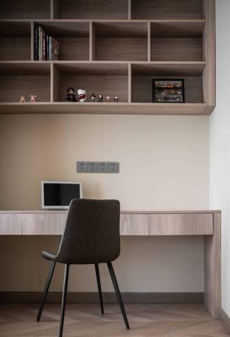 豪华型120平米三室两厅混搭风格书房装修图片大全