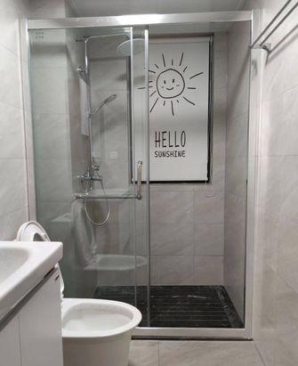 富裕型90平米三室一厅北欧风格卫生间装修图片大全
