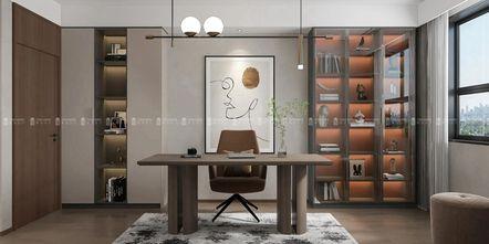 140平米三现代简约风格书房图片